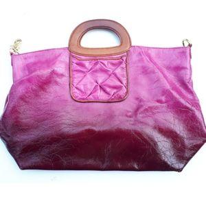Patent Leather Ombré Handbag